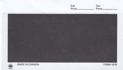 HECO Dealer Cards Form 107B 5 1/2 x 3 3/8 Black 1000 Free Shipping