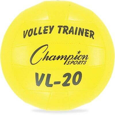 Champion Sports Volley Trainer Ball - Rubber, Nylon - Yellow - 1  Each  - 1 Each