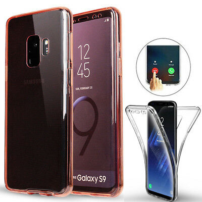 360° Full Body Clear Soft Silicone Case Cover For Samsung Galaxy S9 Plus A7 2018