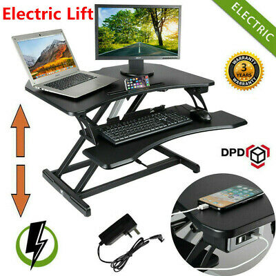 Electric Sit-Stand Height Adjustable Desk Converter Standing Work Station Riser