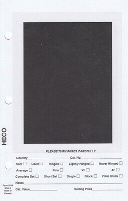 HECO Stamp Dealer Sales Pages 5.5x8.5 Full Page Black Background 500 Sheets New