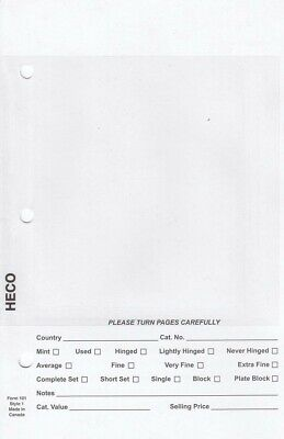 HECO STAMP DEALER Sales Pages 5 5x8 5 Full Page White Background 500 Sheets  #1