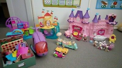 BUNDLE princess castle and multiple play sets and lots of accessories