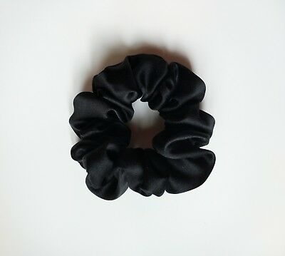 Free Shipping100% Pure Mulberry Silk Hair Scrunchie Charmeuse Hair Accessories