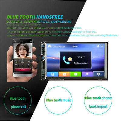 """7"""" HD Auto Stereo Radio 2 DIN MP5 Touch Screen Rear Camera Support Android IOS"""
