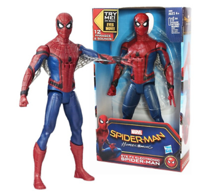 """12"""" SpiderMan Action Figure With Voice & Sound Effects PVC Toy Doll Gift in Box"""