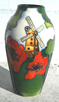 "Moorcroft THAXTED 14cm 5½"" Vase Limited Edition Church & Windmill Design"