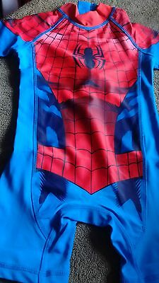 BNWT NEXT SPIDERMAN sunsafe suit to fit age 1.5-2 years UPF 50+ 92cm