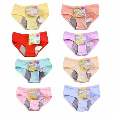 Leakproof Prevent Side Leakage Double Layer Woman Period Briefs Underwear FE