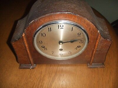 Vintage Art Deco Garrard Oak Westminster Chiming  Mantel Clock