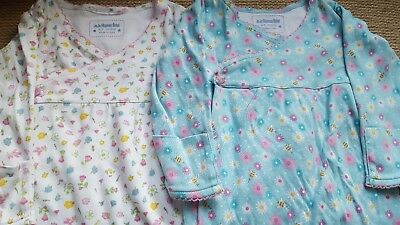 Jojo Maman Bebe Girls Sleep Suits baby grows age 6-9 Months Excellent Condition