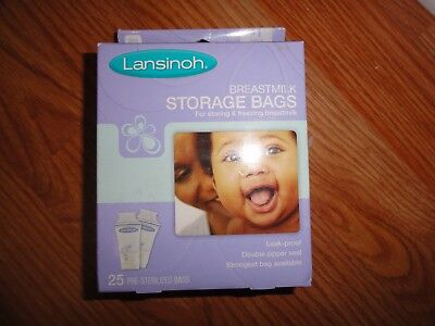 Lansinoh Breastmilk Storage Bags, 25 Count, BPA Free Strongest Bag Available