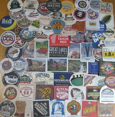 75 Unique US Beer Coasters! Microbrews Only! No Dupes! New Listing! #4 Lot of 4!