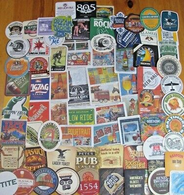 75 Unique US Beer Coasters! Microbrews Only! No Dupes! New Listing! #3 Lot of 4!