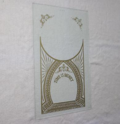Painted Glass Kitchen Parlor Shelf Mantle Wall Clock Ingraham Seth Welch NOS