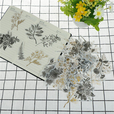 60p native flower gilding stickers decoration diy diary planners scrapbookings P