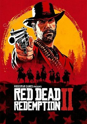 Red Dead Redemption 2 A3 Poster - CHRISTMAS DEAL 25% OFF