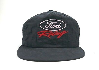 539e236b Vintage Ford Racing Made in the USA Men's snapback trucker hat 90s cap black