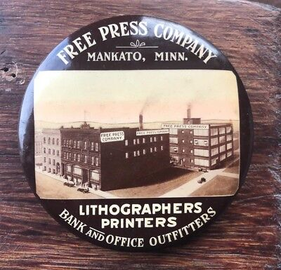 Free Press Company Paperweight Mirror