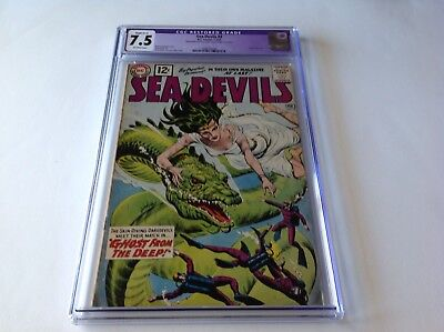 Sea Devils 3 Cgc 7.5 Grey Tone Cover Ghost From The Deep Russ Heath Dc Comics