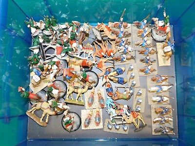 Lot of Painted 28mm Colonial Arab Cavalry figures on Horse and Camels