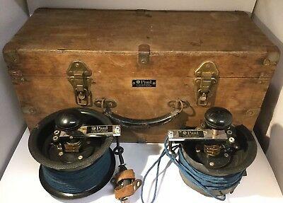Vintage Boxed PAUL of London Electronic FENCING Scoring Wire Spools Equipment -