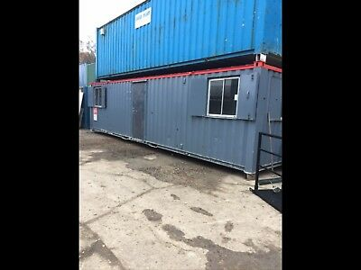 Site Cabin Office Portable Steel Building Anti Vandal 32x9