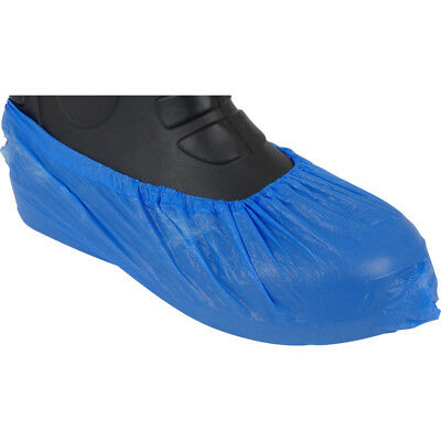 25 X Disposable Shoe Cover Overshoes Blue Anti Slip Plastic Cleaning Boot Safety
