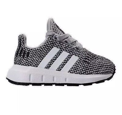 5dce011b8 Boys  Toddler adidas Swift Run Casual Shoes Grey White Gray Size 6 Kids