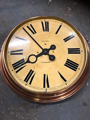 Vintage Clock Copper Hand Painted Dial Junction Gildersome Project No Movement
