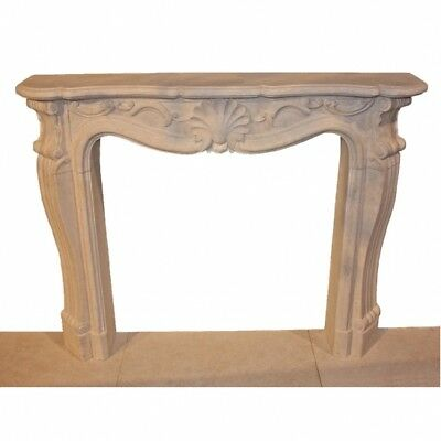 Ivory French Style Marble Fireplace Mantel