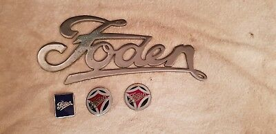 Foden  Lorry Grill Badge x4 in brass, Ideal Retro Truck