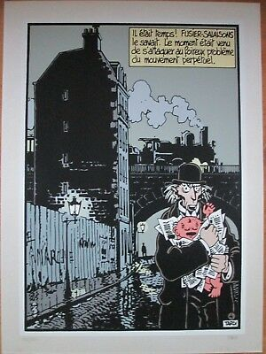 TARDI RARE SERIGRAPHIE  ARCHIVES INTERNATIONALES 55 x 75 N&S 1983 TTBE
