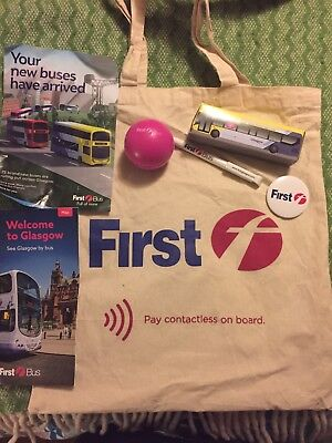 First Bus Glasgow collectible promotional bag and items 2018