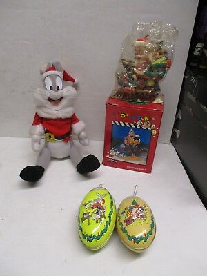 Warner Bros. Looney Tunes Christmas Bugs Bunny & Russell Stover Ornaments  +MORE