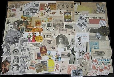 100+pc Lot!Vtg Collage Art/Junk Journal Paper SAMPLER PACK~Antique Ads&Ephemera