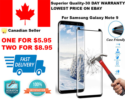 3D Full Cover Tempered Glass Screen Protector For Samsung Galaxy Note 9