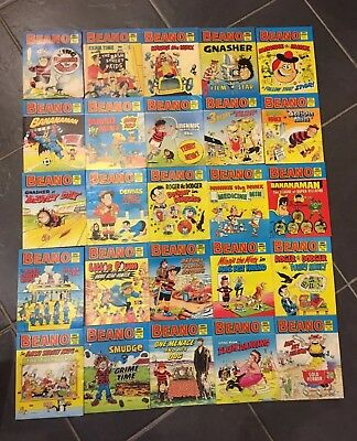 86 vintage Beano Mini Comic Story Library Books, Numbers 1 - 106 (incomplete)