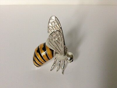 Large Saturno Silver and Enamelled Bee/Wasp