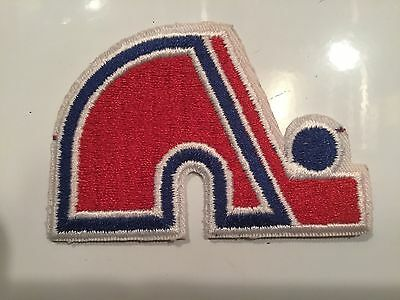 """Quebec Nordiques WHA NHL- Iron On Crest Patch  3""""x 2"""""""