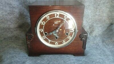 1930s Art Deco  8 Day Westminster Chimes Mantel Clock G.W.O