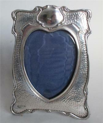 Antique Silver Heart Shaped Photograph  Frame 1902, 7.5 Inches