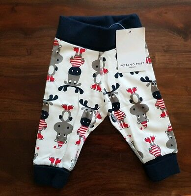 New Baby Boy Polarn O Pyret Christmas Cotton Pants/trousers 0 -1 Month