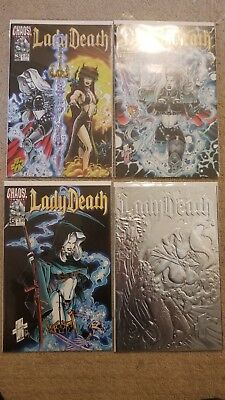 Lady Death/CHAOS! mixed lot of 12. NM
