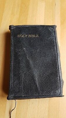 Rare Vintage The Holy Bible Gilt Edges 1940 King James Collins' Clear-Type Press
