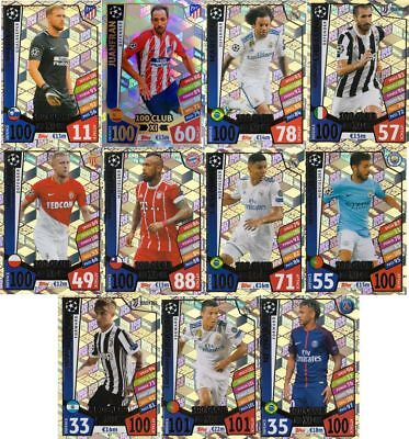 2017 2018 Topps Match Attax UEFA Champions League 100 CLUB XI Set 11 Cards