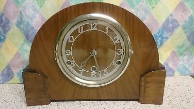 Smiths Enfield Westminster Chimes Mantel Clock 8 Day Movement