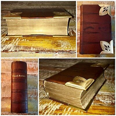 1863 Old Antique Bible Book Prayer New Testament Eyre & Spottiswoode Leather