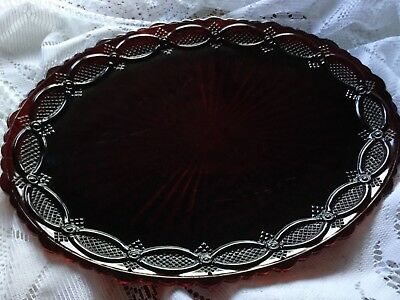 """1986 Avon 1876 Collection Red Cape Cod 14"""" Oval Platter  Exc."""