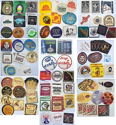 160 Lot of Washington Beer Mat Coasters Pyramid Ales, RedHook, Seattle Breweries